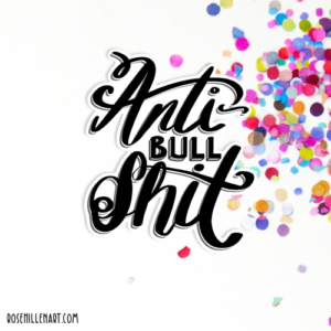 anti-bullshit sticker