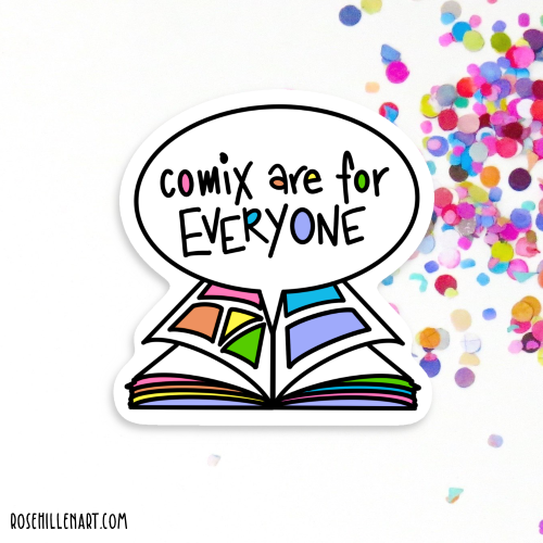 comix are for everyone sticker 01