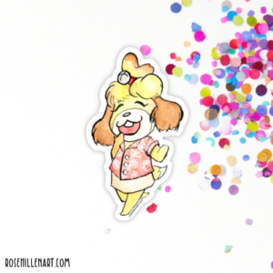 isabelle animal crossing sticker