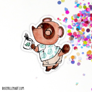 tom nook animal crossing sticker