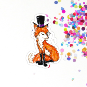 dapper fox sticker