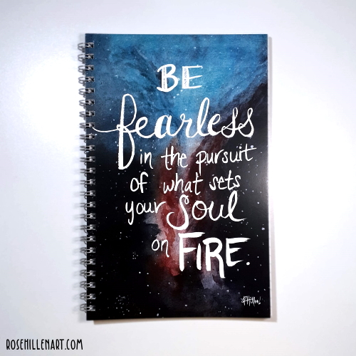 be fearless notebook cover
